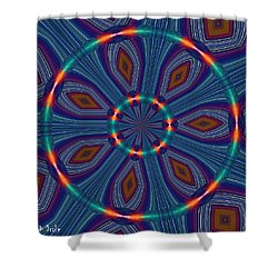 Tangerine And Turquoise Dream Shower Curtain by Alec Drake