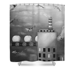 Tangerine Dream Edit 4 Shower Curtain by Leah Saulnier The Painting Maniac