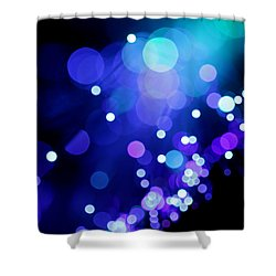 Tangled Up In Blue Shower Curtain by Dazzle Zazz