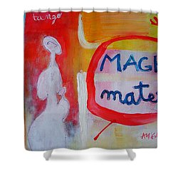 Tango Shower Curtain by Ana Maria Edulescu