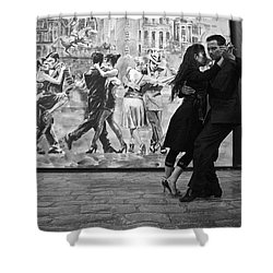 Tango Dancers In Buenos Aires Shower Curtain by Venetia Featherstone-Witty