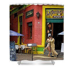 Tango Dancing In La Boca Shower Curtain