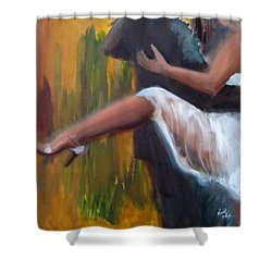 Tango On The Piazza Shower Curtain