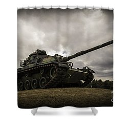 Tank World War 2 Shower Curtain