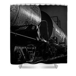 Tanker Cars Shower Curtain by Bob Orsillo