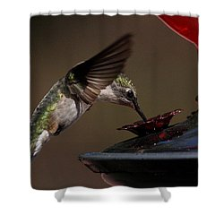 Tanking Up Shower Curtain by Douglas Stucky