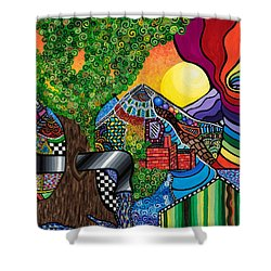 Tantalizing Tree Shower Curtain