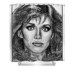 Tanya Roberts In 1981 Shower Curtain by J McCombie