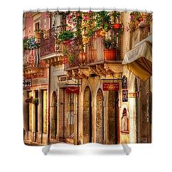 Taormina Balcony Shower Curtain by Michael Berry