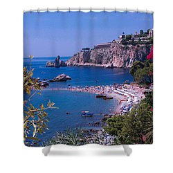 Taormina Beach Shower Curtain by Dany Lison
