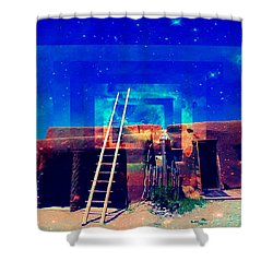 Taos Dreams Come True Shower Curtain