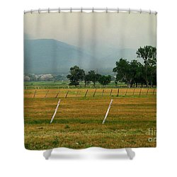 Taos Fields Shower Curtain by Steven Ralser