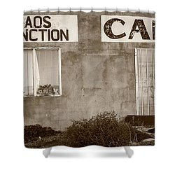 Taos Junction Cafe Shower Curtain by Steven Bateson