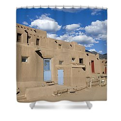 Taos Pueblo Shower Curtain by Elvira Butler
