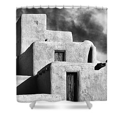 Taos Pueblo Stacks Shower Curtain