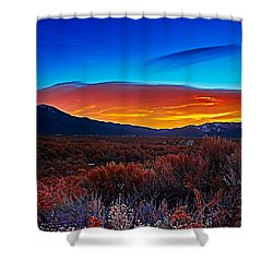 Taos Sunrise X Shower Curtain