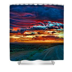 Taos Sunset Iv Shower Curtain