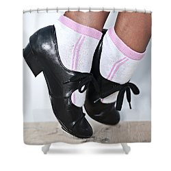 Tap Dance Shoes From Dance Academy - Tap Point Tap Shower Curtain