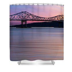 Tappan Zee Bridge Sunset Shower Curtain