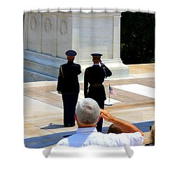 Taps At The Tomb Of The Unknown Shower Curtain by Patti Whitten