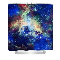 Tarantula Nebula 4 Shower Curtain by Jennifer Rondinelli Reilly - Fine Art Photography