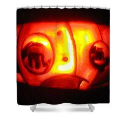 Tarboy Pumpkin Shower Curtain by Shawn Dall