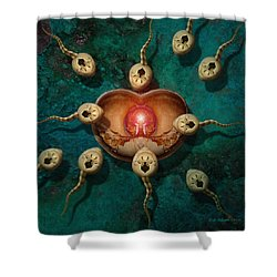 Targeting Shower Curtain by WB Johnston