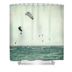 Tarifa Beach Shower Curtain by Guido Montanes Castillo