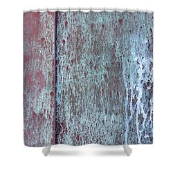 Shower Curtain featuring the photograph Tarnished Tin by Heidi Smith