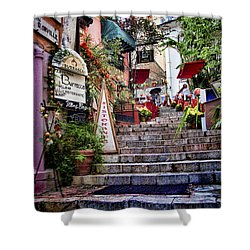 Taormina Steps Sicily Shower Curtain