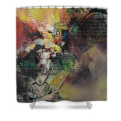 Tarot Card Abstract 005 Shower Curtain by Corporate Art Task Force