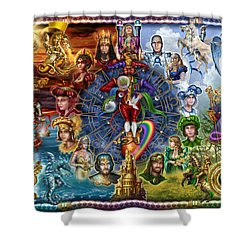 Tarot Of Dreams Shower Curtain by Ciro Marchetti