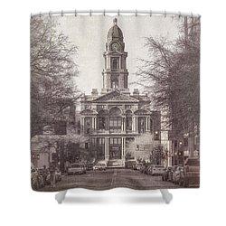Tarrant County Courthouse Shower Curtain by Joan Carroll