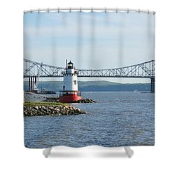 Tarrytown Lighthouse Shower Curtain by Karen Silvestri