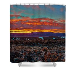 Taos Sunrise Shower Curtain