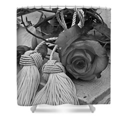 Shower Curtain featuring the photograph Tassels And Roses Beauty by Sandra Foster