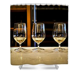 Tasting Wine Shower Curtain by Elena Elisseeva