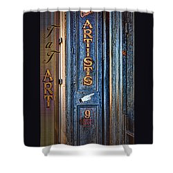 Tat Art Shower Curtain by Larry Bishop