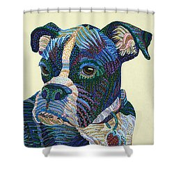 Tater - Portrait Of A Boxer Shower Curtain