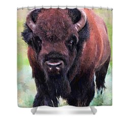 Da105 Tatonka By Daniel Adams Shower Curtain
