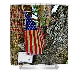 Tattered America Shower Curtain