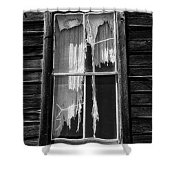 Tattered And Torn Shower Curtain by Cat Connor