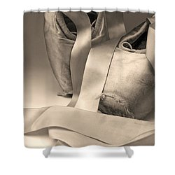 Tattered And Torn Shower Curtain by Don Spenner