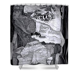Tattered And Torn Shower Curtain by Randall Nyhof
