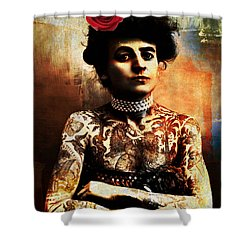 Tattoo Lady Shower Curtain