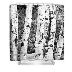 Tattoo Trees Shower Curtain