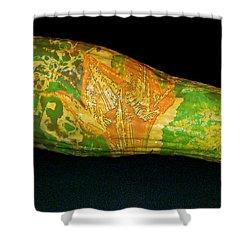 Tattooed Squash Shower Curtain by Barbara S Nickerson