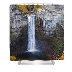 Taughannock Falls In Autumn Shower Curtain