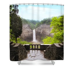 Taughannock Falls Shower Curtain by Jessica Jenney