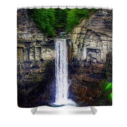 Taughannock Falls Ulysses Ny Shower Curtain by Tim Buisman